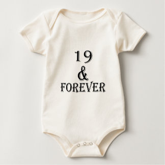 19 And  Forever Birthday Designs Baby Bodysuit