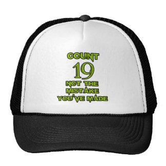 19 Birthday design Trucker Hat
