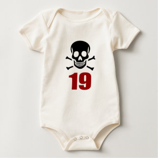 19 Birthday Designs Baby Bodysuit