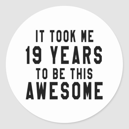 19 birthday designs sticker