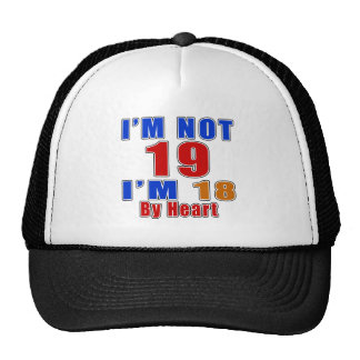 19 Birthday Designs Trucker Hat