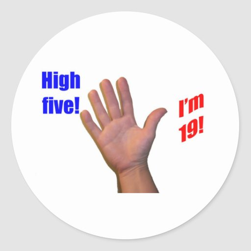 19 High Five! Stickers
