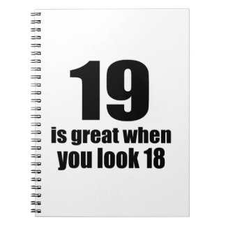 19 Is Great When You Look Birthday Notebook