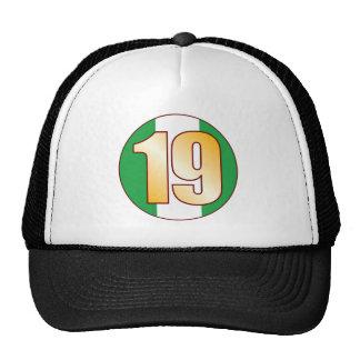 19 NIGERIA Gold Trucker Hat