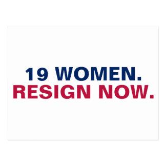 19 Women Resign Now Resist Postcard