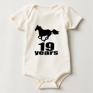 19 Years Birthday Designs Baby Bodysuit