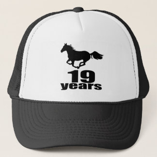 19 Years Birthday Designs Trucker Hat
