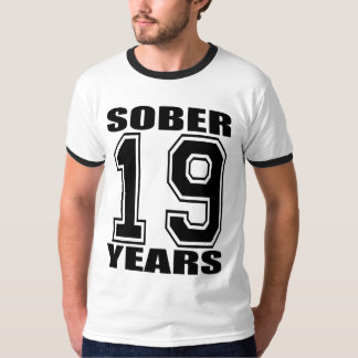 19 Years Sober Black T T-Shirt