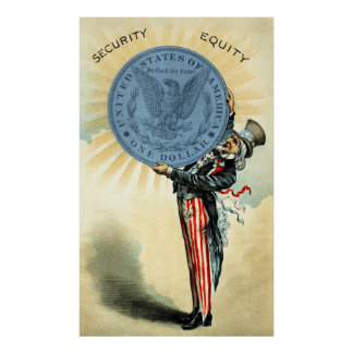 19C Uncle Sam Likes Silver Poster