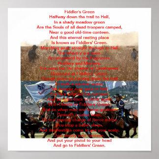 19D Poem Fiddler's Green Poster