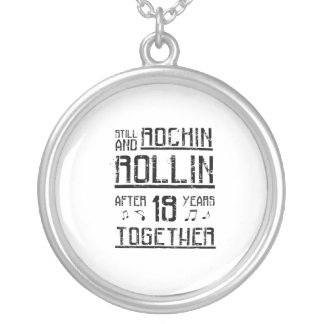 19th Anniversary - 19 Years Couples Gift Silver Plated Necklace
