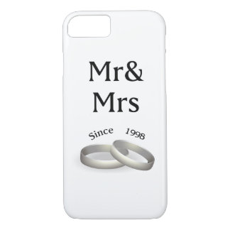19th anniversary matching Mr. And Mrs. Since 1998 iPhone 8/7 Case