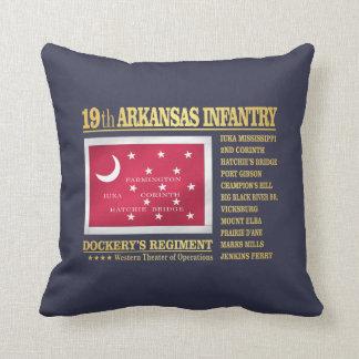 19th Arkansas Infantry (BA2) Throw Pillow
