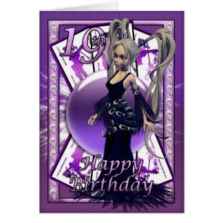 19th birthday card, happy 19th Gothic Doll Bday Greeting Card