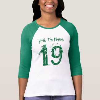 19th Birthday Gift Custom Name for Her T Shirts