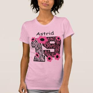 19th Birthday Pink Zebra Custom Name V025A4K Shirts