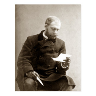 19th C. Gent reading a letter Postcard