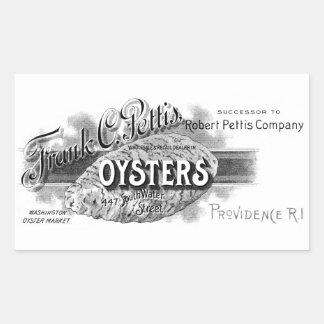 19th C. Oysters, black Sticker