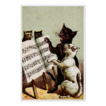 19th C. Singing Cats Poster