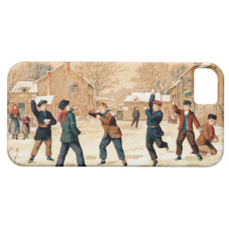 19th C. Snowball Fight iPhone 5 Cover