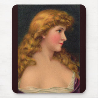 19th century beautiful woman mouse pad