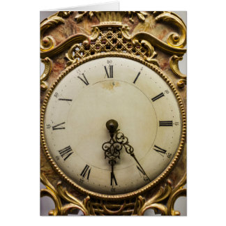 19th century clock face, Germany Card