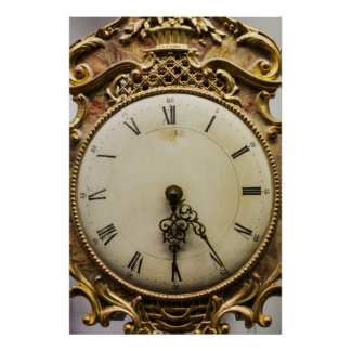 19th century clock face, Germany Poster