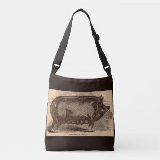 19th century farm animal print Berkshire sow breed Crossbody Bag