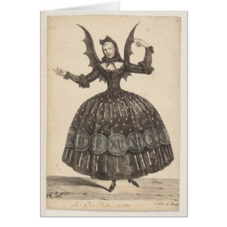 19th-Century French Ballet Costume Card