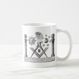 19th Century Masonic G Kenning Blockcut engraving Coffee Mug