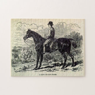 19th century print A Light Hunting Horse Jigsaw Puzzle