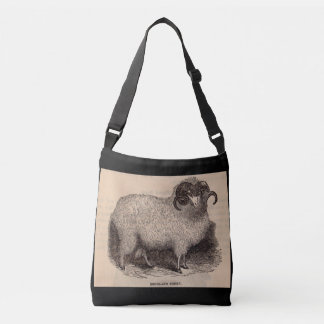 19th century print Highland sheep Crossbody Bag