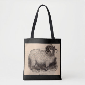 19th century print Highland sheep Tote Bag