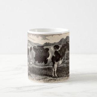 19th century print Holstein cow Coffee Mug
