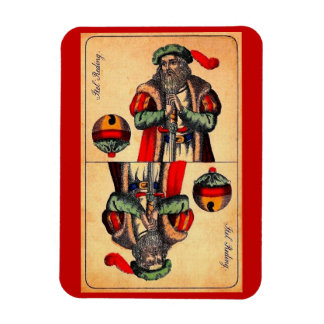 19th century tarot card no. 2 magnet