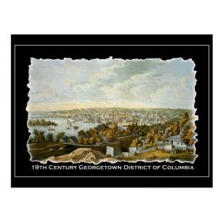 19th Century View of Georgetown, Washington DC Postcard