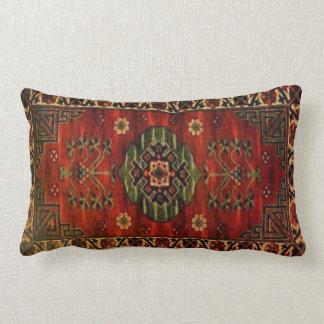 19th Century Vintage Carpet Design 237 Lumbar Pillow