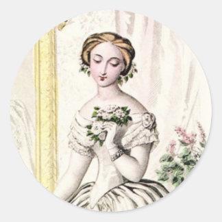 19th Century Wedding Round Sticker