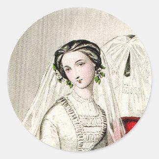 19th Century Wedding Classic Round Sticker
