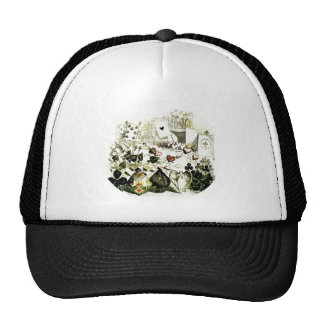 19th Century Wonderland-esque Woodcut Trucker Hat