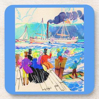 19th century yacht race coaster