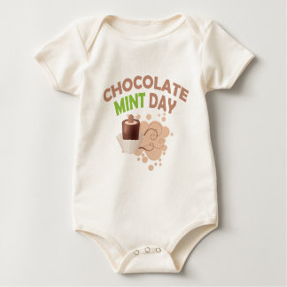 19th February - Chocolate Mint Day Baby Bodysuit