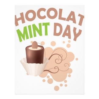 19th February - Chocolate Mint Day Custom Letterhead