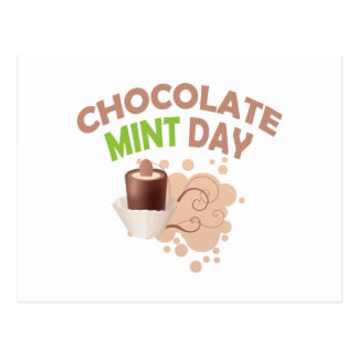 19th February - Chocolate Mint Day Postcard