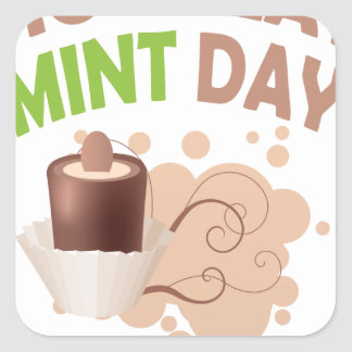 19th February - Chocolate Mint Day Square Sticker