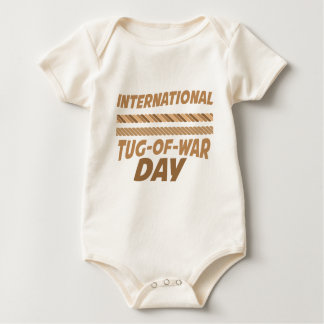 19th February - International Tug-of-War Day Baby Bodysuit