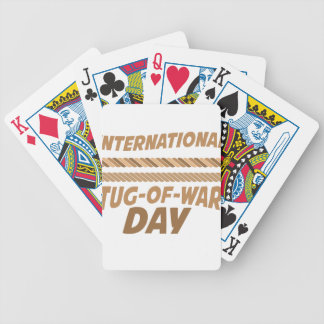 19th February - International Tug-of-War Day Bicycle Playing Cards