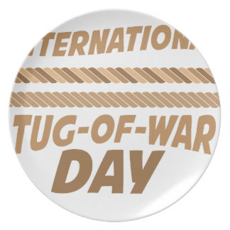 19th February - International Tug-of-War Day Party Plates
