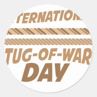 19th February - International Tug-of-War Day Round Sticker