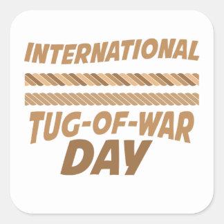 19th February - International Tug-of-War Day Square Sticker